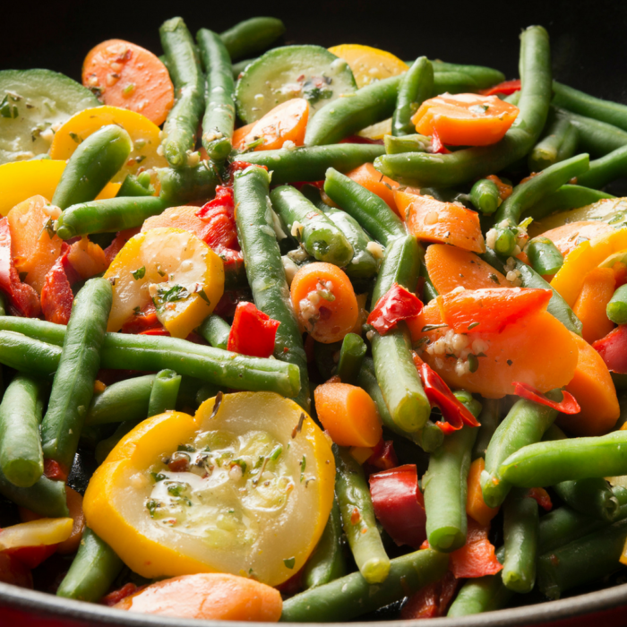 tuscan vegetables with herb butter
