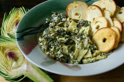 spinach artichoke dip to go