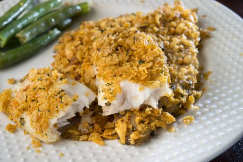 Tortilla Crusted Tilapia meals to go