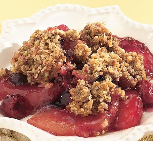 apple berry crisp