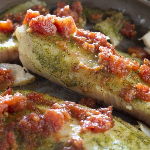 Pesto Baked Tilapia. Social Suppers.