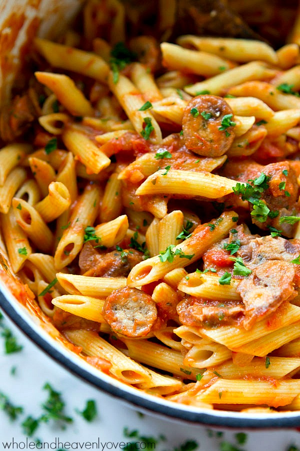 italian sausage with vodka cream meals to go