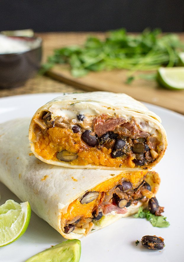 sweet potato burritos to go