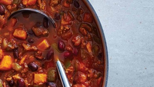 turkey chili with sweet potatoes